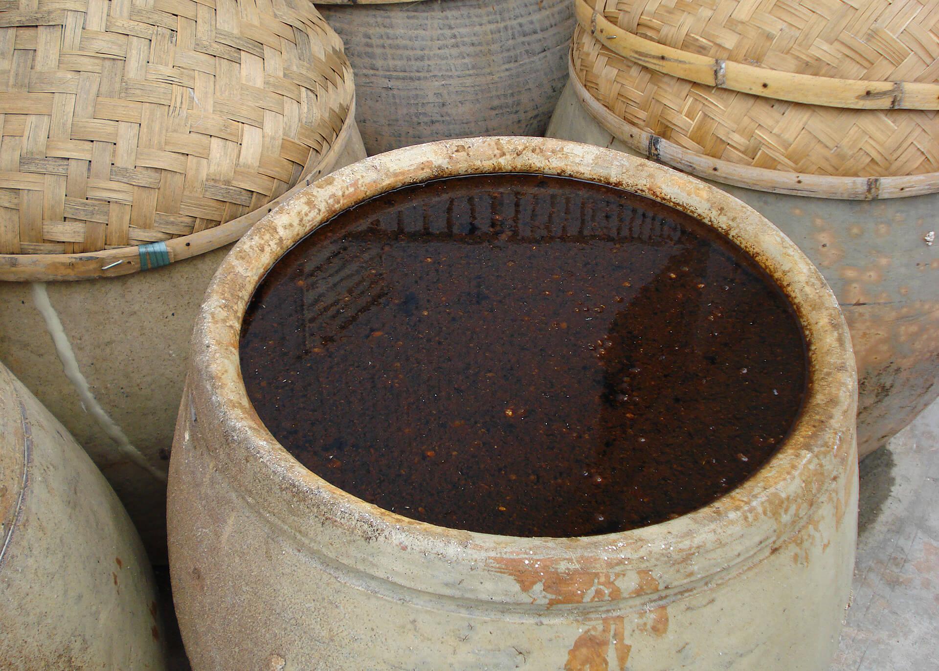 Soja Sauce Produktion